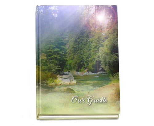 Serenity Perfect Bind Memorial Guest Registry Book 8x10
