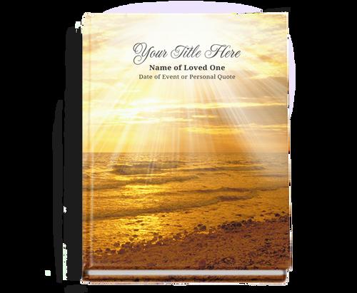 Shine Perfect Bind Memorial Guest Registry Book 8x10
