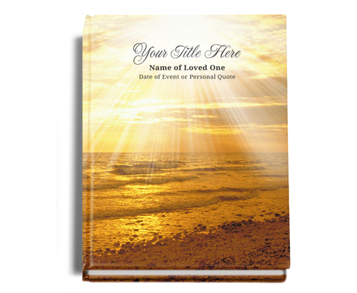 Shine Perfect Bind Memorial Guest Registry Book 8x10