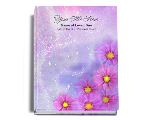 Sparkle Perfect Bind Memorial Guest Registry Book 8x10