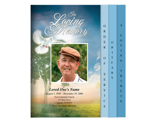 Gardener Legal 8-Sided Graduated Funeral Program Template
