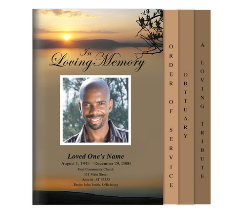 Kenya Legal 8-Sided Graduated Funeral Program Template