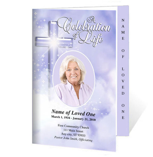 Adoration Letter 4-Sided Graduated Funeral Program Template