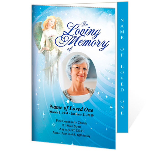 Angelica Letter 4-Sided Graduated Funeral Program Template