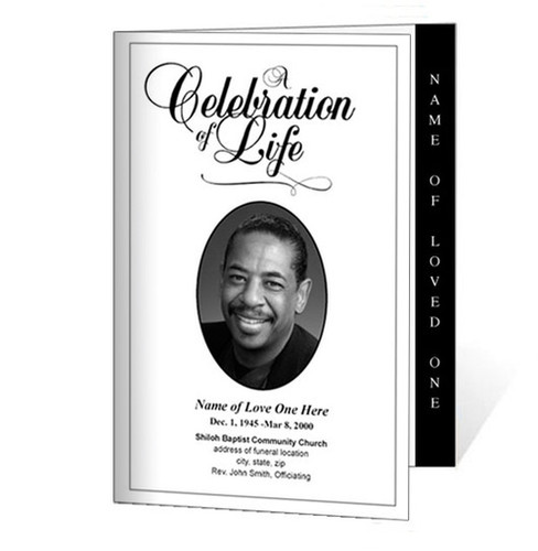 Classic Letter 4-Sided Graduated Funeral Program Template