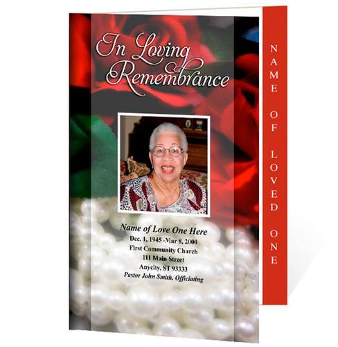 Elegance Letter 4-Sided Graduated Funeral Program Template