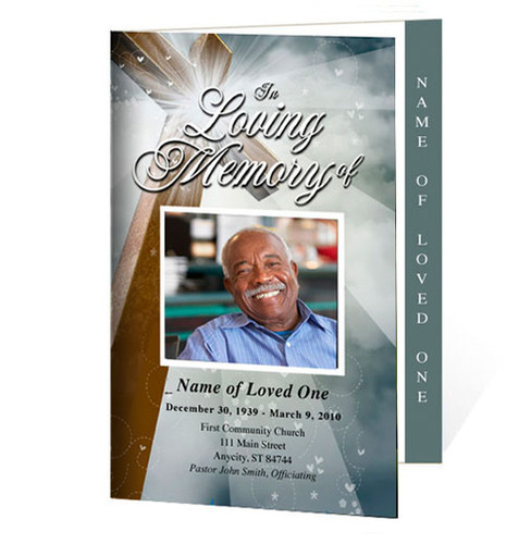 Eternal Letter 4-Sided Funeral Graduated Program Template