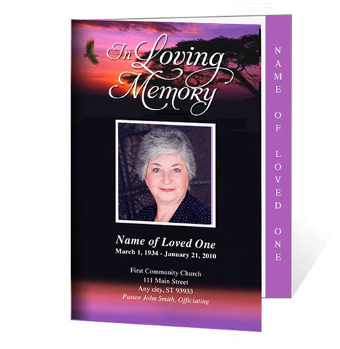 Imagine Letter 4-Sided Graduated Funeral Program Template