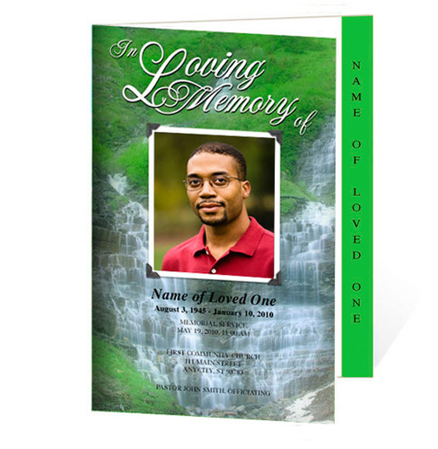 Majestic Letter 4-Sided Graduated Funeral Program Template