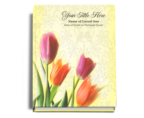 Sunny Perfect Bind Funeral Guest Book Sign-In 8x10