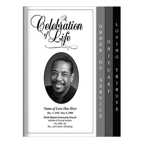 Classic 8-Sided Graduated Funeral Program Template