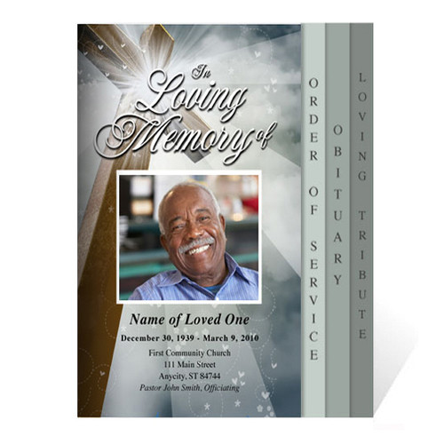 Eternal 8-Sided Graduated Funeral Program Template