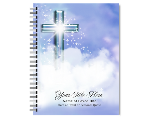 Adoration Spiral Wire Bind Memorial Guest Book Sign In