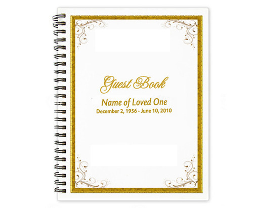 Affinity Spiral Wire Bind Memorial Guest Book Sign In