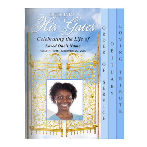 Gates 8-Sided Graduated Funeral Program Template