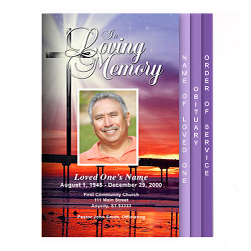 Glorify 8-Sided Graduated Funeral Program Template