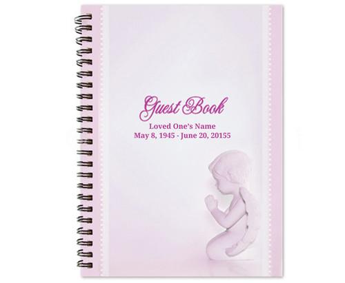 Angela Spiral Wire Bind Memorial Guest Book