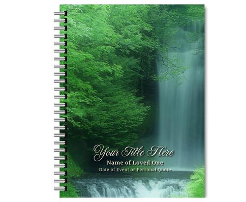 Cascade Spiral Wire Bind Memorial Guest Book