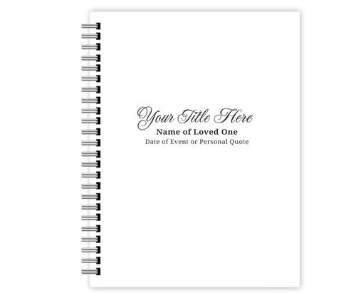 Classic Spiral Wire Bind Memorial Guest Book