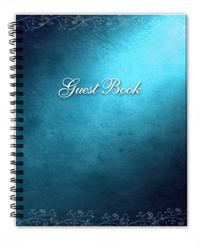 Devotion Spiral Wire Bind Memorial Guest Book Registry