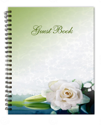 Divine Spiral Wire Bind Memorial Guest Book Registry