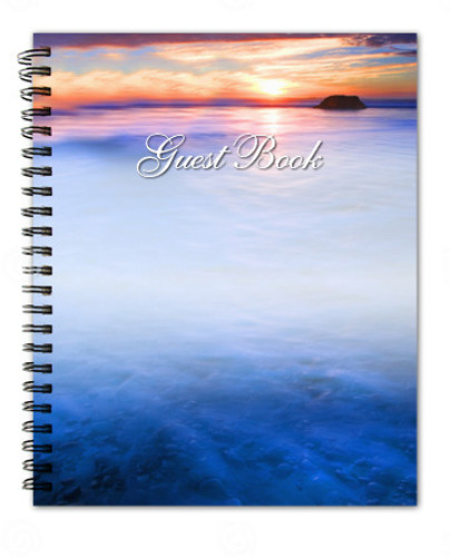 Dusk Spiral Wire Bind Memorial Guest Book Registry