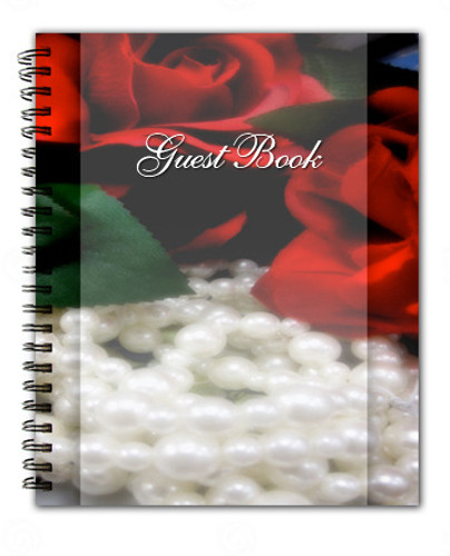 Elegance Spiral Wire Bind Memorial Guest Book Registry