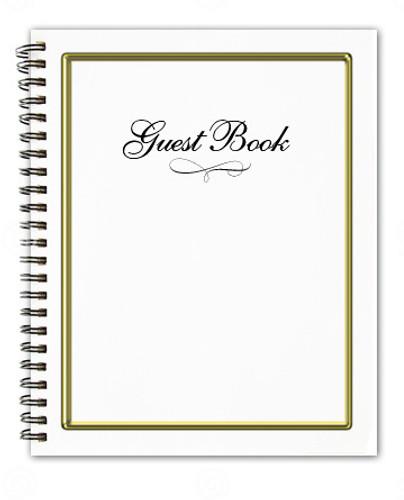 Embassy Spiral Wire Bind Memorial Guest Registry Book