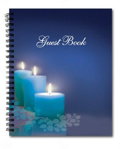 Enlighten Spiral Wire Bind Memorial Guest Book Registry