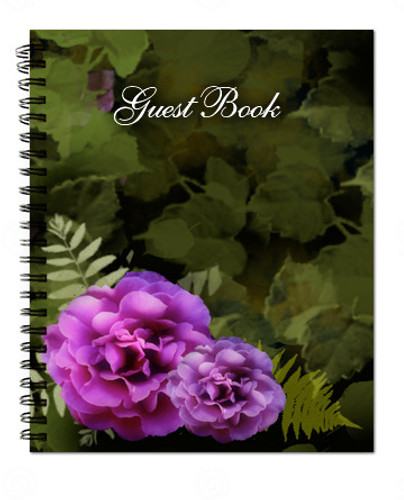 Essence Spiral Wire Bind Memorial Guest Book Registry