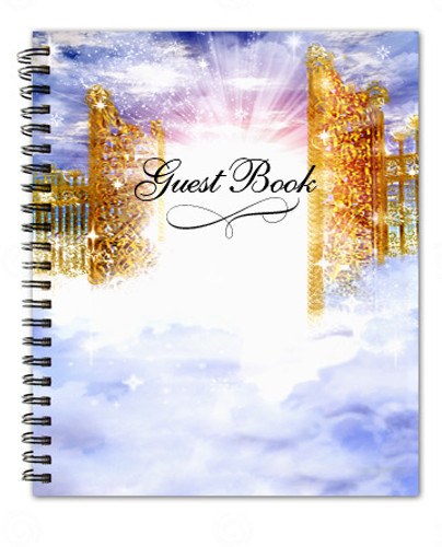 Pathway Spiral Wire Bind Memorial Guest Book Registry