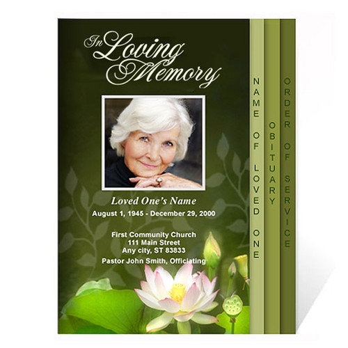 Lotus 8-Sided 8-Sided Funeral Graduated Program Template