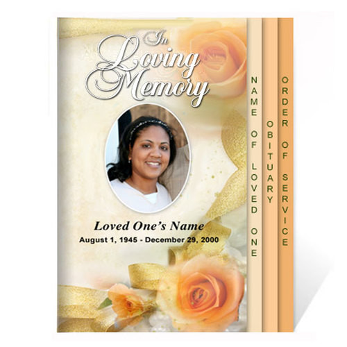 Rejoice 8-Sided Graduated Funeral Program Template