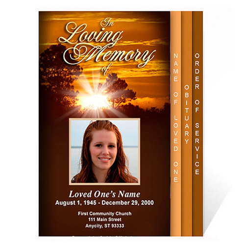 Renewal 8-Sided Graduated Funeral Program Template