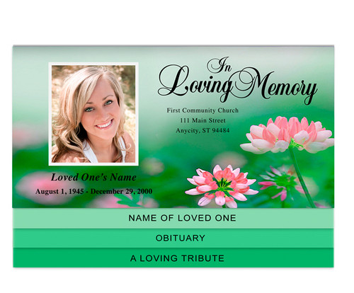 Ambrosia Bottom Graduated Funeral Template