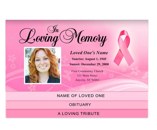 Awareness Bottom Graduated Funeral Template