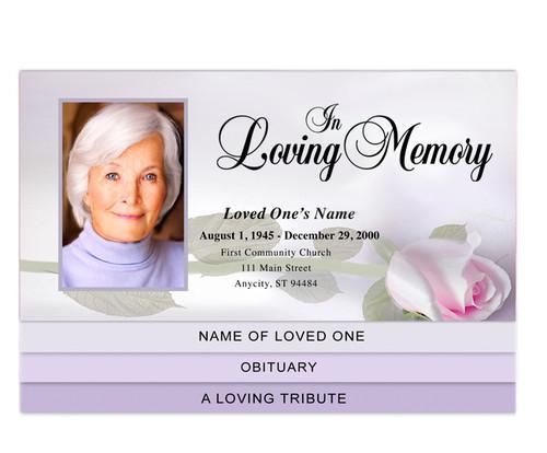 Beloved Bottom Graduated Funeral Template