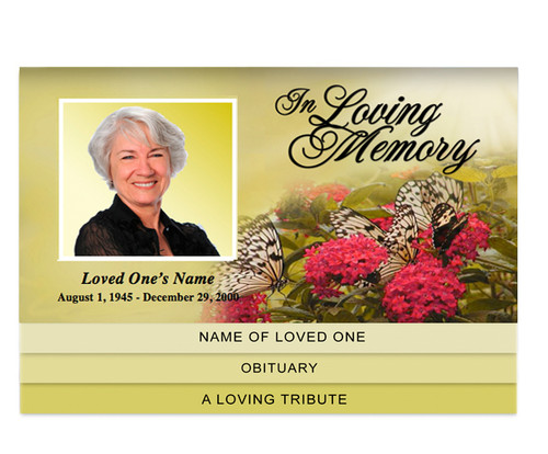 Bouquet Bottom Graduated Funeral Template