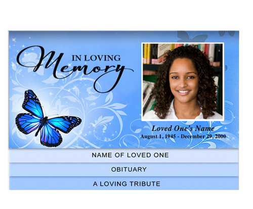 Butterfly Bottom Graduated Funeral Template