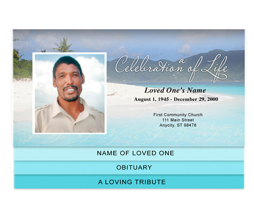 Caribbean Bottom Graduated Funeral Template