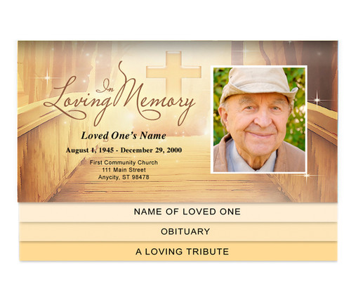 Crossing Bottom Graduated Funeral Template
