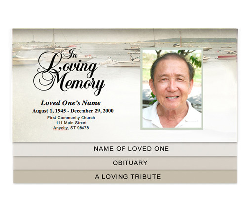 Fishing Bottom Graduated Funeral Template