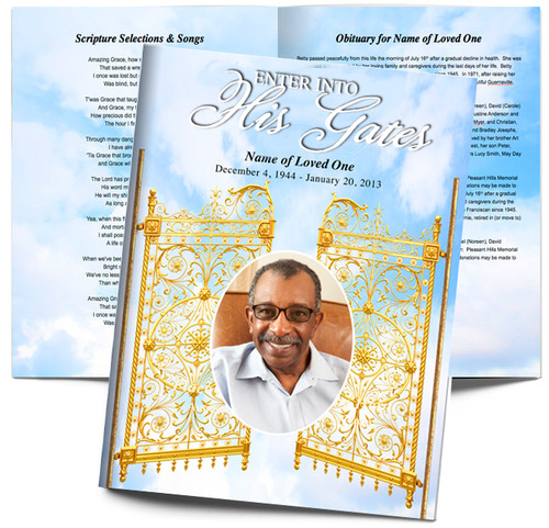 Large Tabloid Funeral Booklet Template