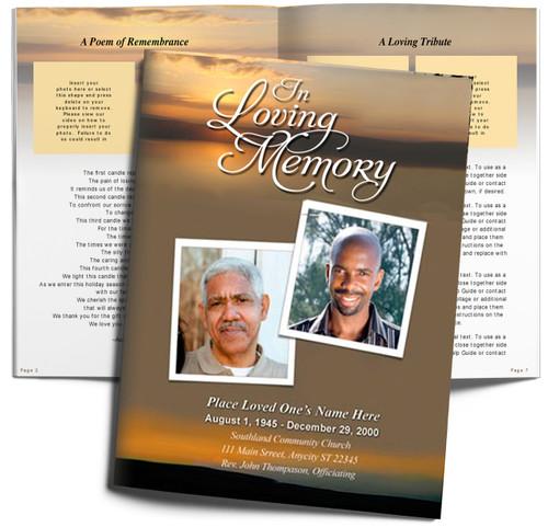 Kenya DIY Large Tabloid Funeral Booklet Template