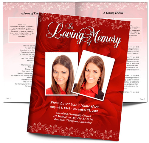 Passion DIY Large Tabloid Funeral Booklet Template