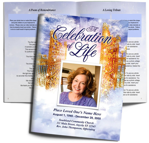 Pathway DIY Large Tabloid Funeral Booklet Template