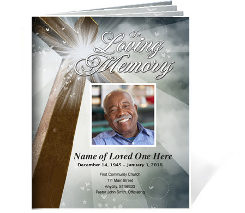 ternal DIY Large Tabloid Funeral Booklet Template