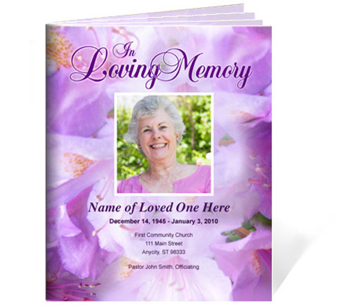 Lavender Ready-Made DIY Legal Funeral Booklet Template