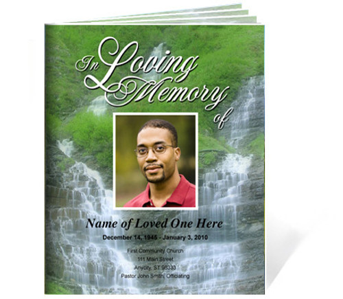 Majestic Ready-Made DIY Legal Funeral Booklet Template