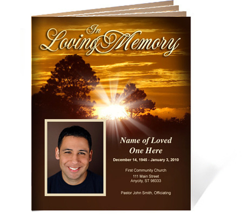 Renewal Ready-Made DIY Legal Funeral Booklet Template
